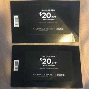 $40 off $100  Victoria's Secret Reward Card